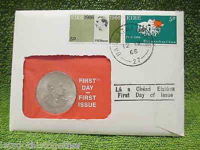 *reduced* 1St Day Postal Issue Padraig Pearse 1966 10 Shilling Silver Irish Coin