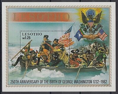 XG-AD390 LESOTHO - Washington, 1982 Birth Anniversary MNH Sheet