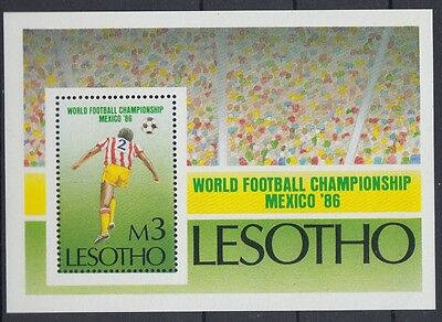XG-AD410 LESOTHO - Football, 1986 Mexico World Cup MNH Sheet