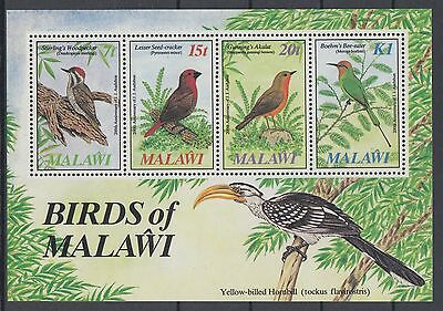 XG-AD500 MALAWI - Birds, 1985 Trees, Nature MNH Sheet
