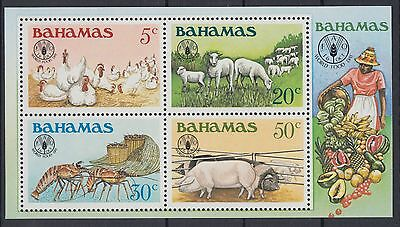 XG-AD780 BAHAMAS IND - Farm Animals, 1981 World Food Day MNH Sheet
