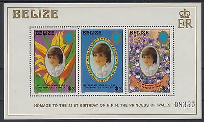 XG-AD830 BELIZE - Lady Diana, 1982 21St Birthday MNH Sheet