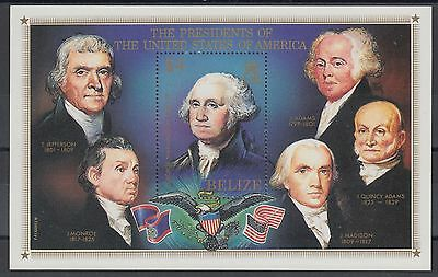 XG-AD860 BELIZE - American Bicent., 1986 Us Presidents MNH Sheet
