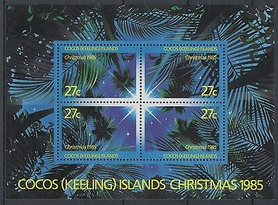 XG-AD910 COCOS KEELING ISLANDS - Christmas, 1985 Trees, Star, Nature MNH Sheet