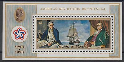 XG-AD940 COOK ISLANDS IND - American Bicent., 1976 Ships MNH Sheet