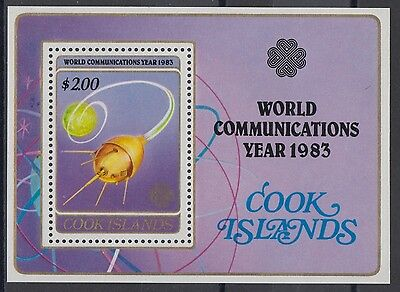 XG-AD960 COOK ISLANDS IND - World Communication Year, 1983 Space MNH Sheet