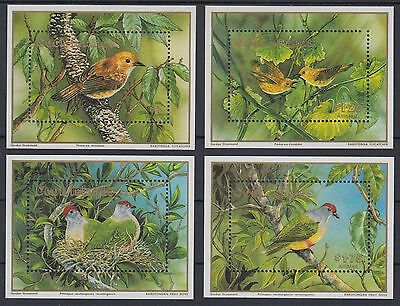 XG-AD990 COOK ISLANDS IND - Wwf, 1989 Birds, Nature, 4 Sheets MNH