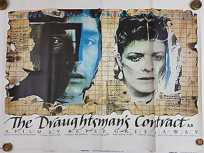 THE DRAUGHTSMAN'S CONTRACT 1982 ORIGINAL UK QUAD Peter Greenaway B36