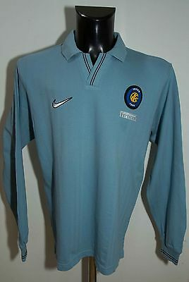 Mens Inter Milan Football Club Top Nike Size M ( Label S ) Cotton Excl