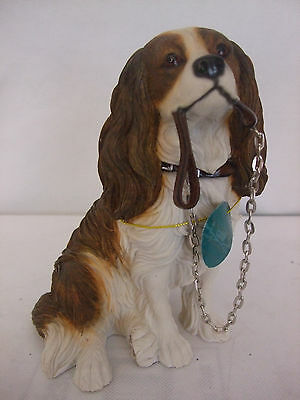 Walkies Cavalier King Charles Spaniel Ornament Gift Boxed Brown and White