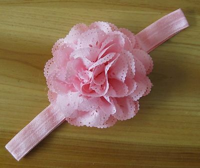 US Stock Pink Girl Hair Band Cute Hair Accessories Flower Headband New born @yy