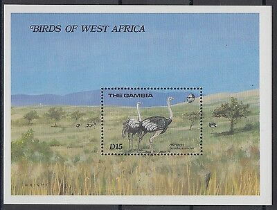 XG-AE090 GAMBIA IND - Birds, 1989 Of West Africa, Nature MNH Sheet