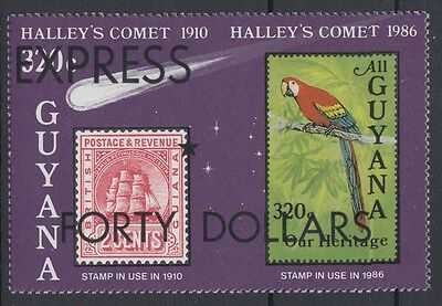 XG-AE260 GUYANA - Halley'S Comet, 1987 Express Forty Dollars Ovp ScE11 MNH Set
