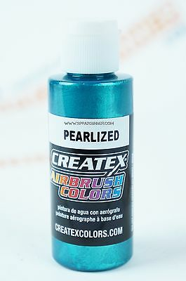 Createx Airbrush Colors 5303 Pearl Turquoise 2oz. water-based pearlized paint