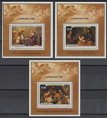 XG-AE330 PENRHYN IND - Paintings, 1985 Christmas, Murillo, 3 Sheets MNH