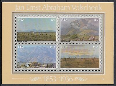XG-AE350 SOUTH AFRICA IND - Paintings, 1978 Landscapes, Volschenk MNH Sheet