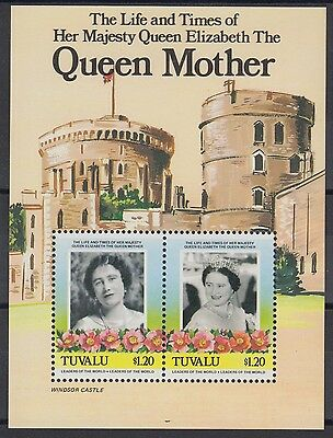 XG-AE390 TUVALU - Royalty, 1985 Queen Mother 85Th Birthday, $1.20 MNH Sheet