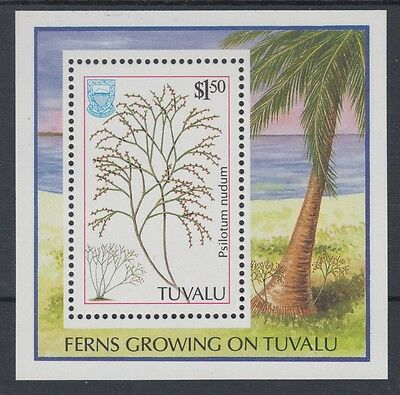 XG-AE400 TUVALU - Nature, 1987 Flora, Ferns, Trees MNH Sheet