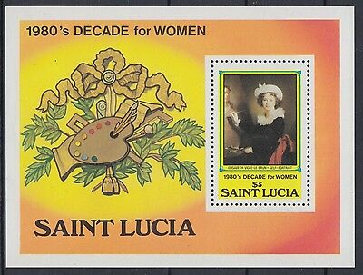 XG-AE550 ST LUCIA IND - Paintings, 1981 Decade For Women MNH Sheet