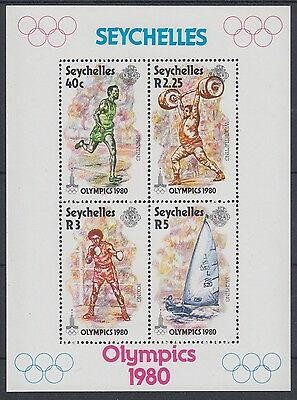 XG-AE590 SEYCHELLES IND - Olympic Games, 1980 Russia Moscow '80 MNH Sheet