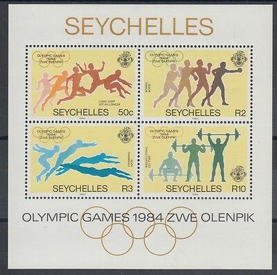 XG-AE600 SEYCHELLES IND - Olympic Games, 1984 Los Angeles '84 MNH Sheet