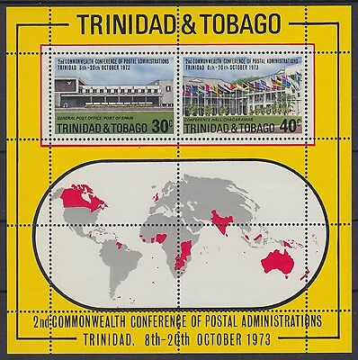 XG-AE620 TRINIDAD & TOBAGO IND - Commonwealth, 1973 Conference, Flags MNH Sheet