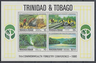 XG-AE640 TRINIDAD & TOBAGO IND - Trees, 1980 Forestry Conference MNH Sheet
