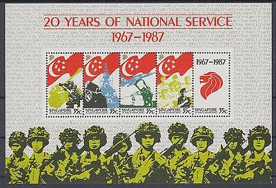 XG-AE710 SINGAPORE IND - Army, 1987 25 Years Of National Service MNH Sheet