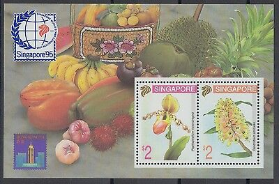 XG-AE720 SINGAPORE IND - Flowers, 1994 Orchids, Fruits MNH Sheet