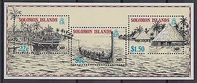 XG-AE850 SOLOMON ISLANDS IND - Ships, 1988 Brisbane Expo MNH Sheet