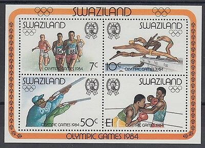 XG-AE860 SWAZILAND IND - Olympic Games, 1984 Los Angeles MNH Sheet
