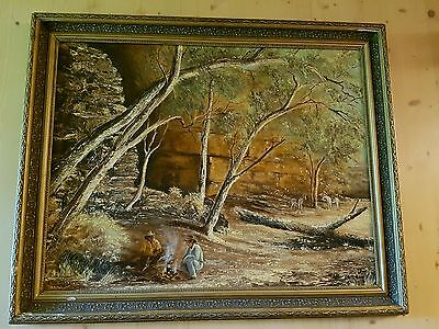 Very large oil painting on the board