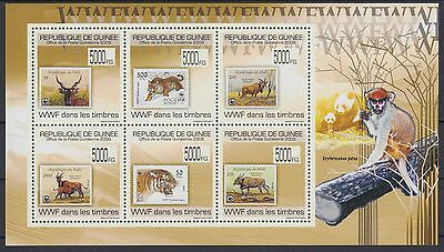 XG-AF110 GUINEA - Wwf, 2009 Stamp On Stamp, Wild Animals MNH Sheet