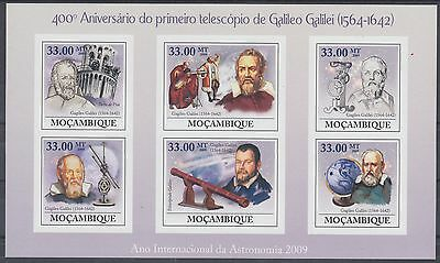 XG-AF200 MOZAMBIQUE IND - Space, 2009 Galileo, Astronomy, Imperf. MNH Sheet