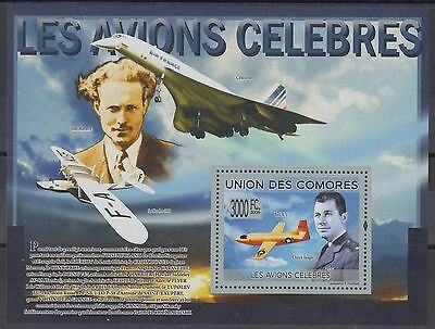 XG-AF240 COMOROS IND - Aviation, 2009 Airplanes, Concorde, Yeager MNH Sheet