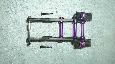 Rare Hyper 7 8 St 7.5 8.5 Pro Rear Wing Mount With Purple Alloy Washers & Posts