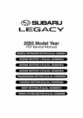 Subaru Legacy Workshop Manual 2004 - 2009