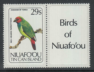 XG-AG010 NIUAFO'OU - Birds, 1983 29S Parrotfinch With Label MNH Set