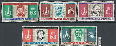 XG-AG130 DOMINICA IND - Human Rights, 1968 Intl. Year, Kennedy MNH Set