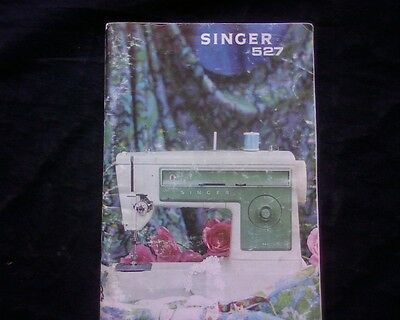 Vintage Singer 527 sewing machine owners instruction manual book