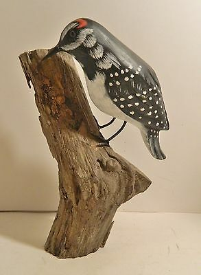 Hand Carved Wooden Woodpecker