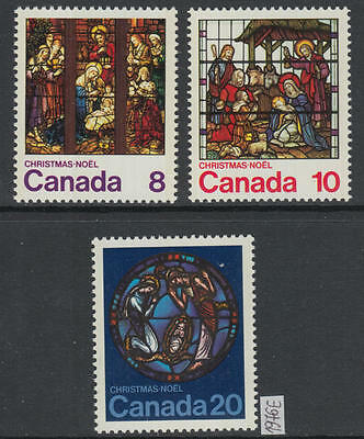 XG-AG190 CANADA MINT - Christmas, 1976 Stained Glass Windows, 3 Values MNH Set