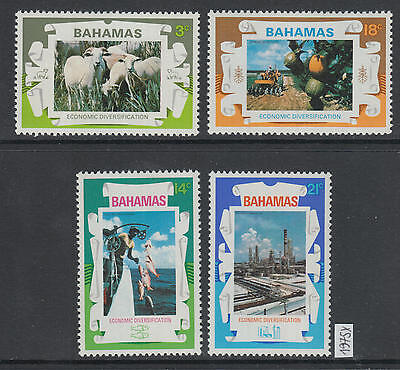 XG-AG280 BAHAMAS IND - Economy, 1975 Diversification, Fishing, Industry MNH Set