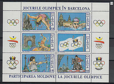 XG-AG630 MOLDOVA - Olympic Games, 1992 Barcelona '92, Equitation MNH Sheet