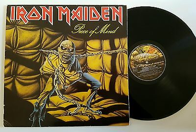 Iron Maiden  Piece of mind  Lp  spanish press RARE LABEL (SONIC S.A.)