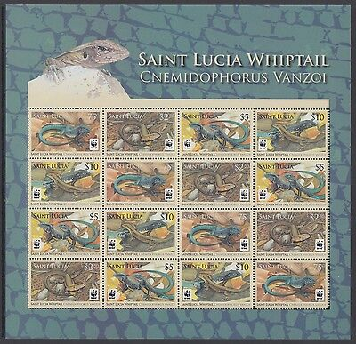 XG-BA500 ST LUCIA IND - Wwf, 2008 Reptils, Whiptail Lizard MNH Sheet