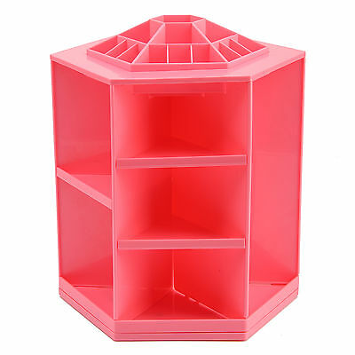 Pink 360 degree Rotating Spinning Cosmetic Organizer Make up Cosmetic
