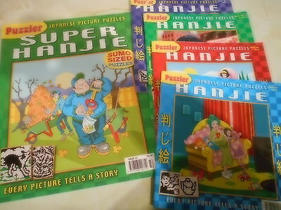 Puzzler Japanese Picture Puzzles - Hanjie Nos.72,166,168,169,170 Incl pp