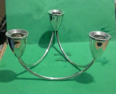sterling silver candelabra for 3 candles