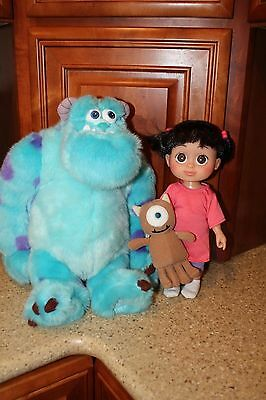 MONSTERS INC. BABBLIN BOO Doll & Mikey + Large SULLEY Plush Disney Store Hasbro
